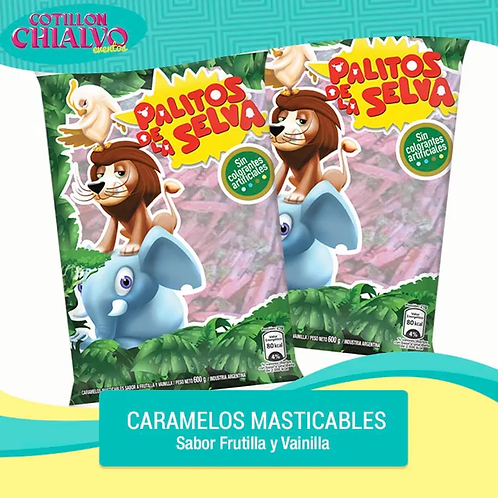"""Caramelos Masticables """"Palitos de la Selva"""""""