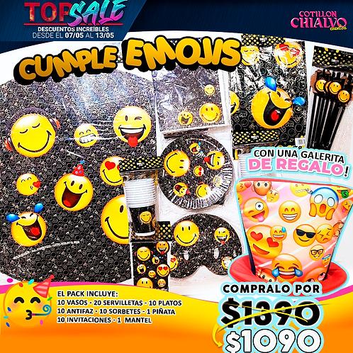 Pack de cumpleaños emoji