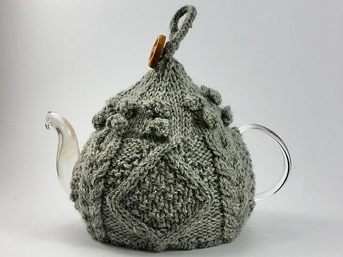 Grey Button Cosy 2-4 cup pot