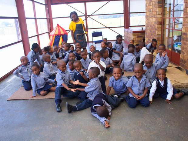 Group photo of kindergarteners