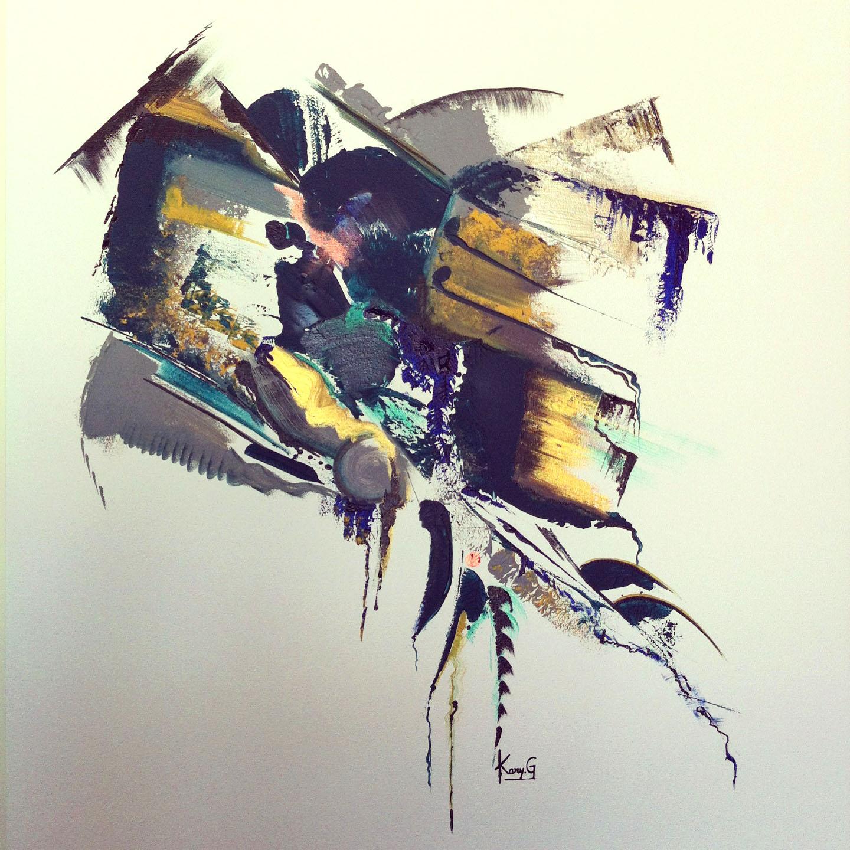 Oeuvre exposée au Coq Rôti d'Alma