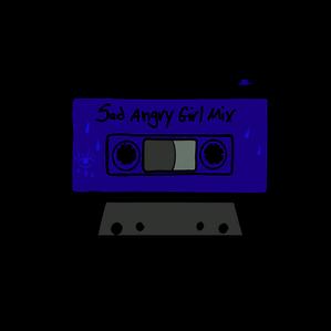 Sad Angry Girl Mixed Tape