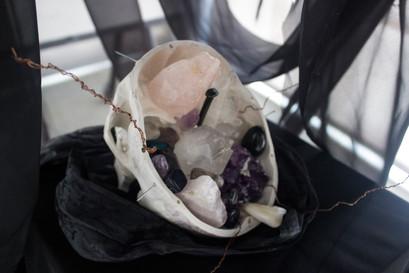 The Veil (skull detail), 2019.
