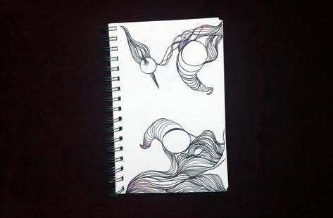 Space Fight (sketchbook). 2014.