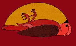 Dead Bird in Red, 2020.