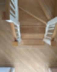 Vinyl flooring on staircase
