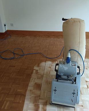 sanded hardwood floor