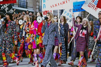 """Cara Delevingne lead """"feminist"""" march for Chanel in Paris"""