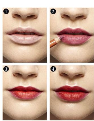The secret to long - lasting lipstick