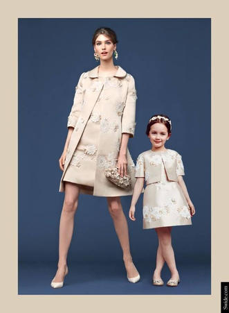 Dolce&Gabbana: Mother and Daughter looks