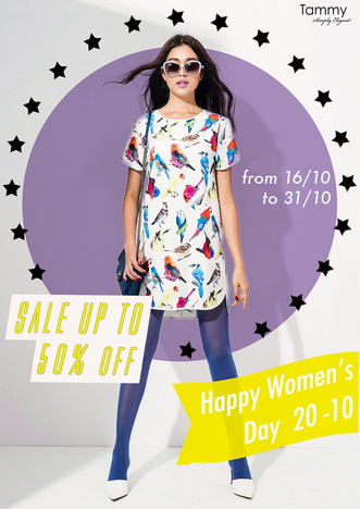 Happy woman day - sale off 50%