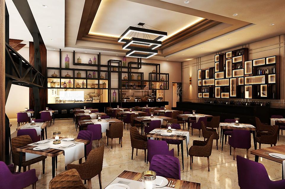 Vista Interior Restaurante y Barra