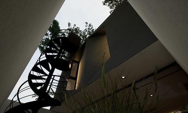 Detalle Escaleras Jardin Negro