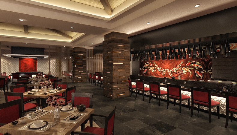 Render Restaurante Asiatico DoZo
