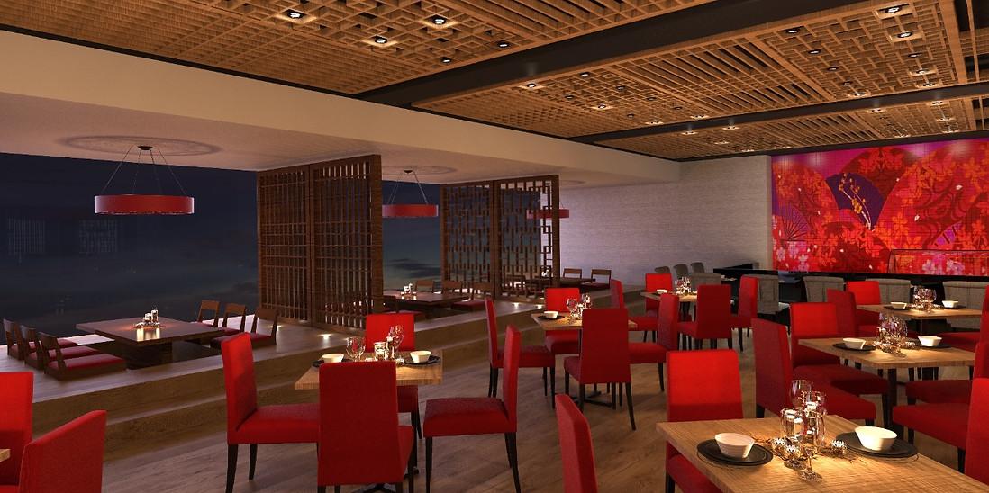 Render Terraza Restaurante Asiatico Ayami