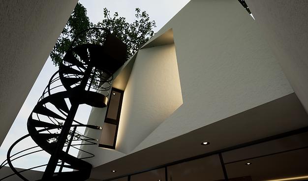 Detalle Escaleras Jardin Blanco