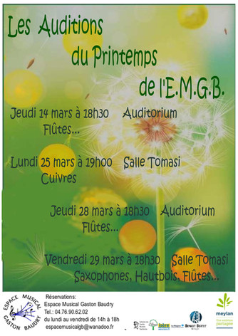 Les Auditions du Printemps