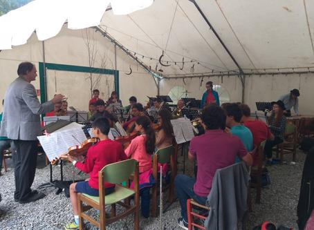 Les stagiaires en concert au désert en valjouffrey
