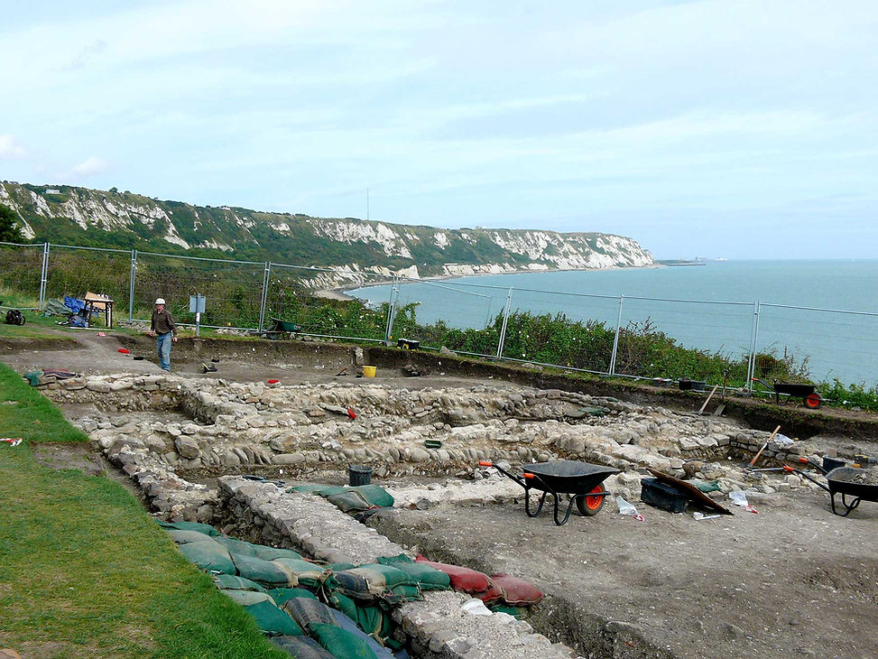 Excavation of the East Cliff Roman villa
