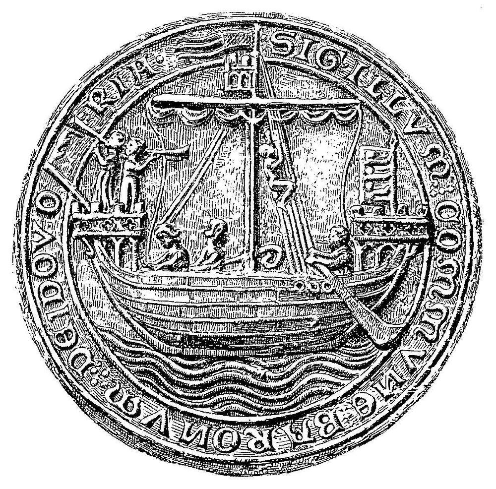 Cinque Ports ship on Dover seal