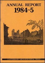 Canterbury's Archaeology 1984–1985