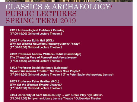 Classics & Archaeology lectures at the University of Kent