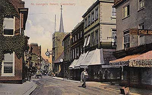 Postcard showing St George's Street