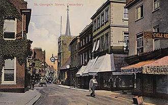 Postcard showing St George's Street