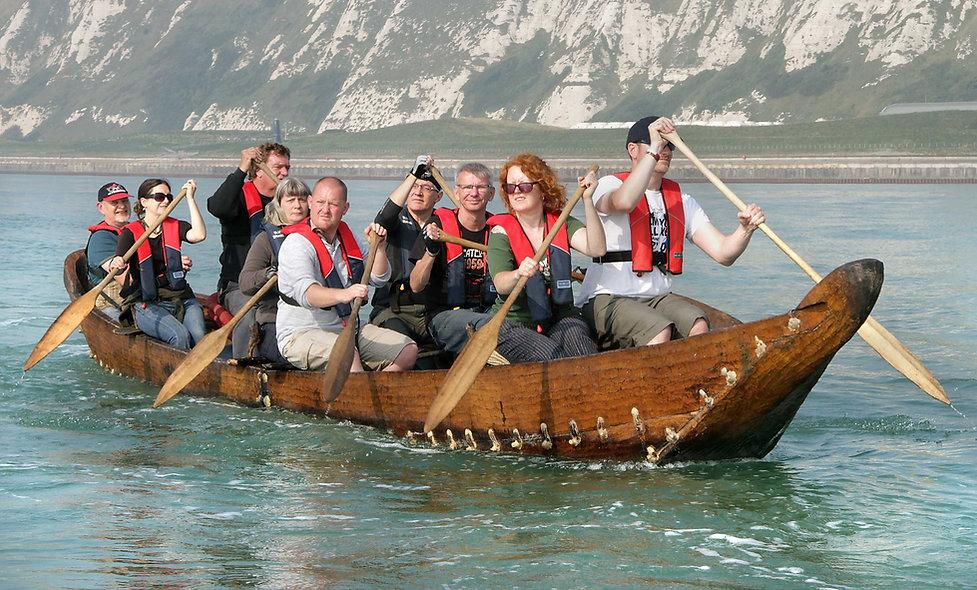 Half-size replica Bronze Age boat