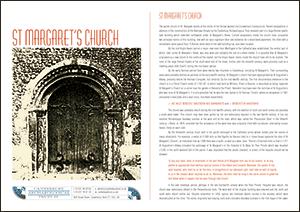 St Margaret's Church A4 Leaflet