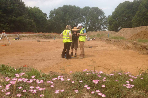 Hippos at Herne Bay: Danielle Schreve and Ian Candy on site with Julie Martin