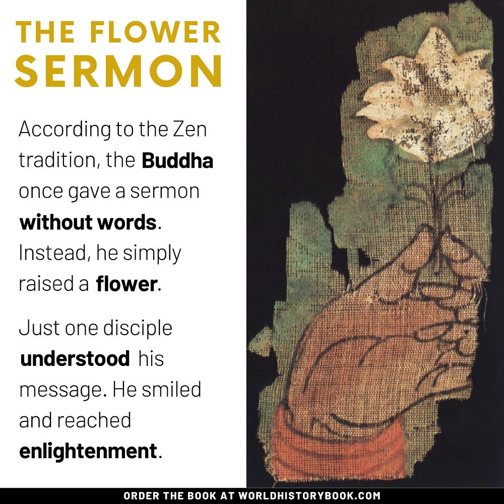 the great world history book stephan dinkgreve japan zen meditation flower sermon buddha tathagatha