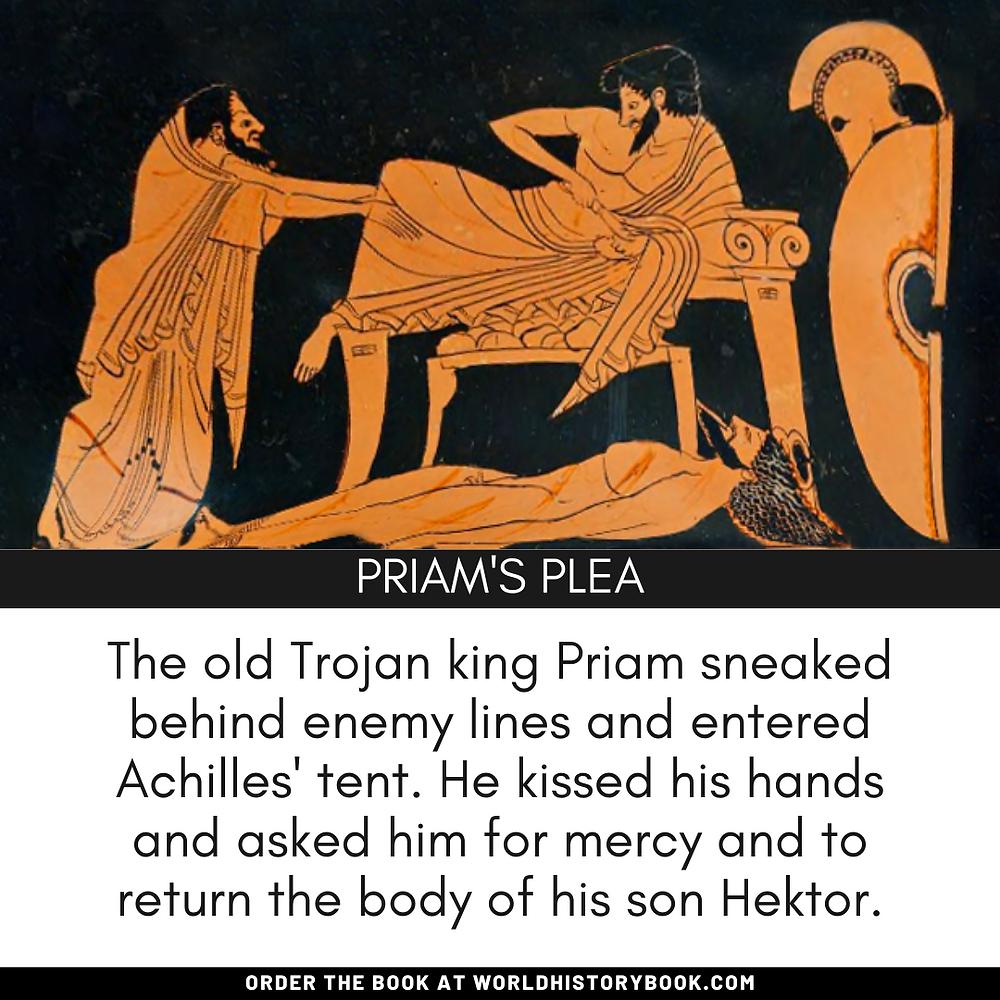 the great world history book stephan dinkgreve ancient greece homer iliad odyssey trojan war achilles hektor body death priam kiss