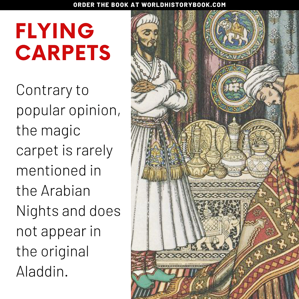 the great world history book stephan dinkgreve arabian nights one thousand and one nights flying carpets magic