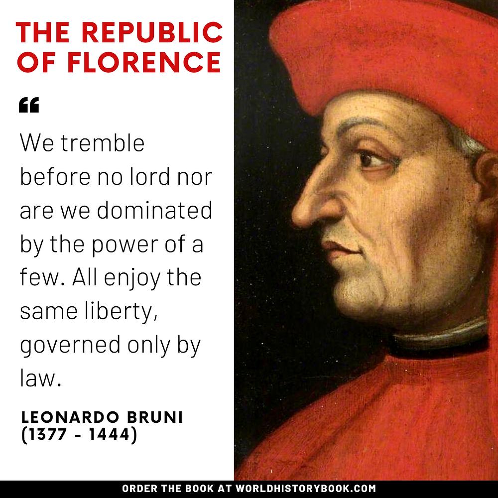 the great world history book stephan dinkgreve renaissance florence leonardo bruni republic
