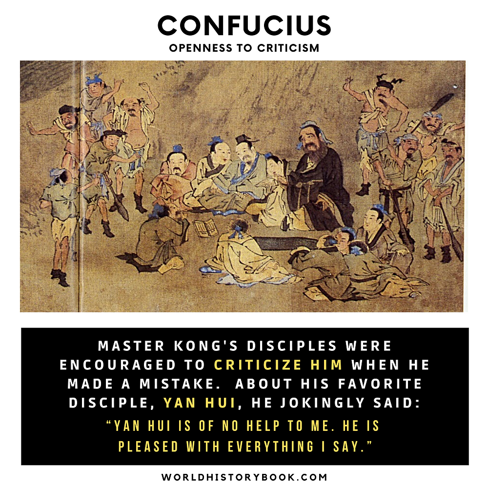 Confucius openness to criticism disciples yan hui