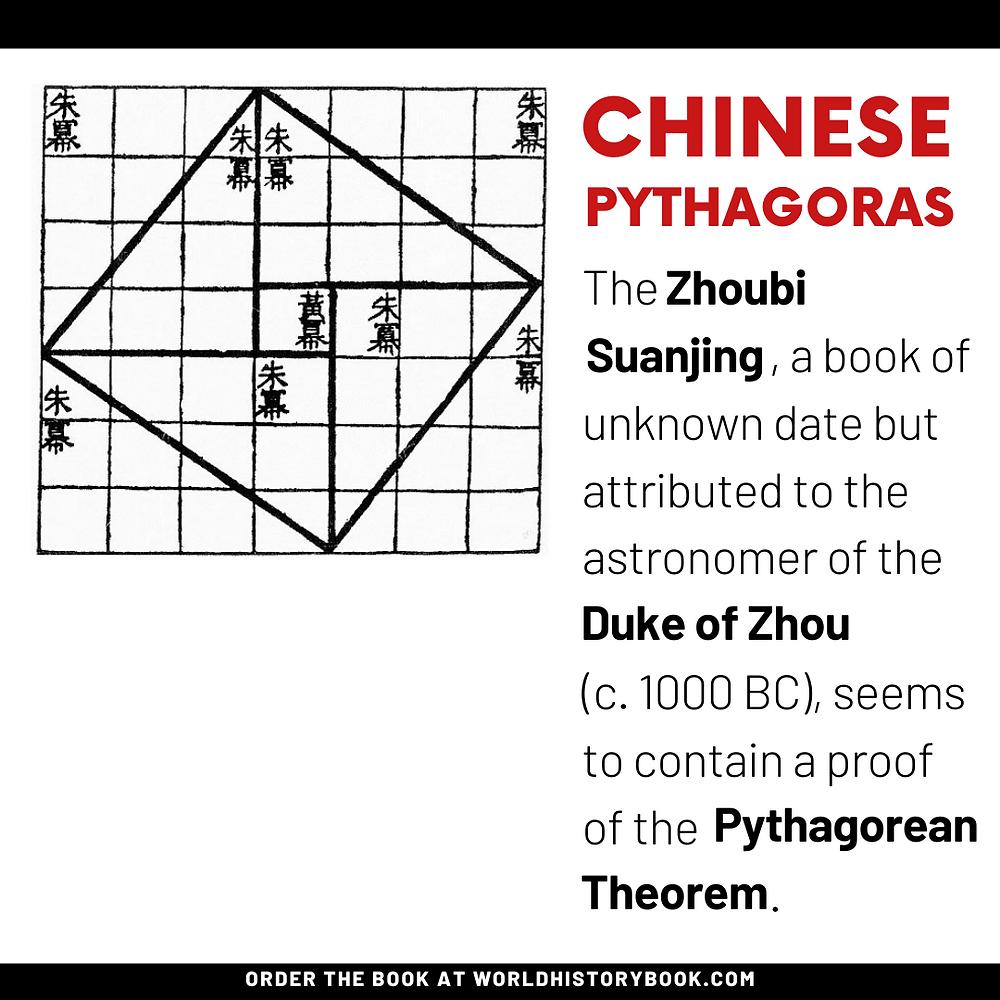 the great world history book stephan dinkgreve mathematics history math pythagoras china zhoubi suanjing duke of zhou