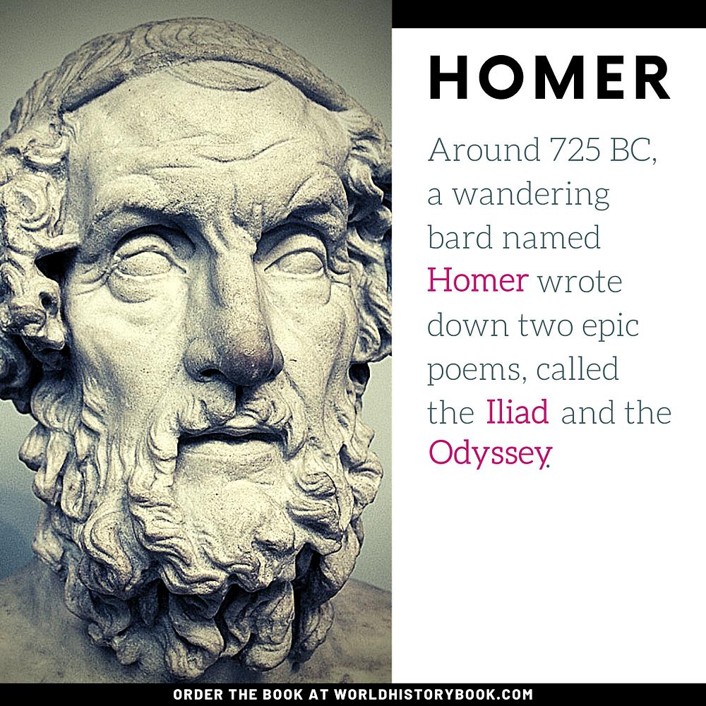 the great world history book stephan dinkgreve iliad odyssey homer ancient greece bard