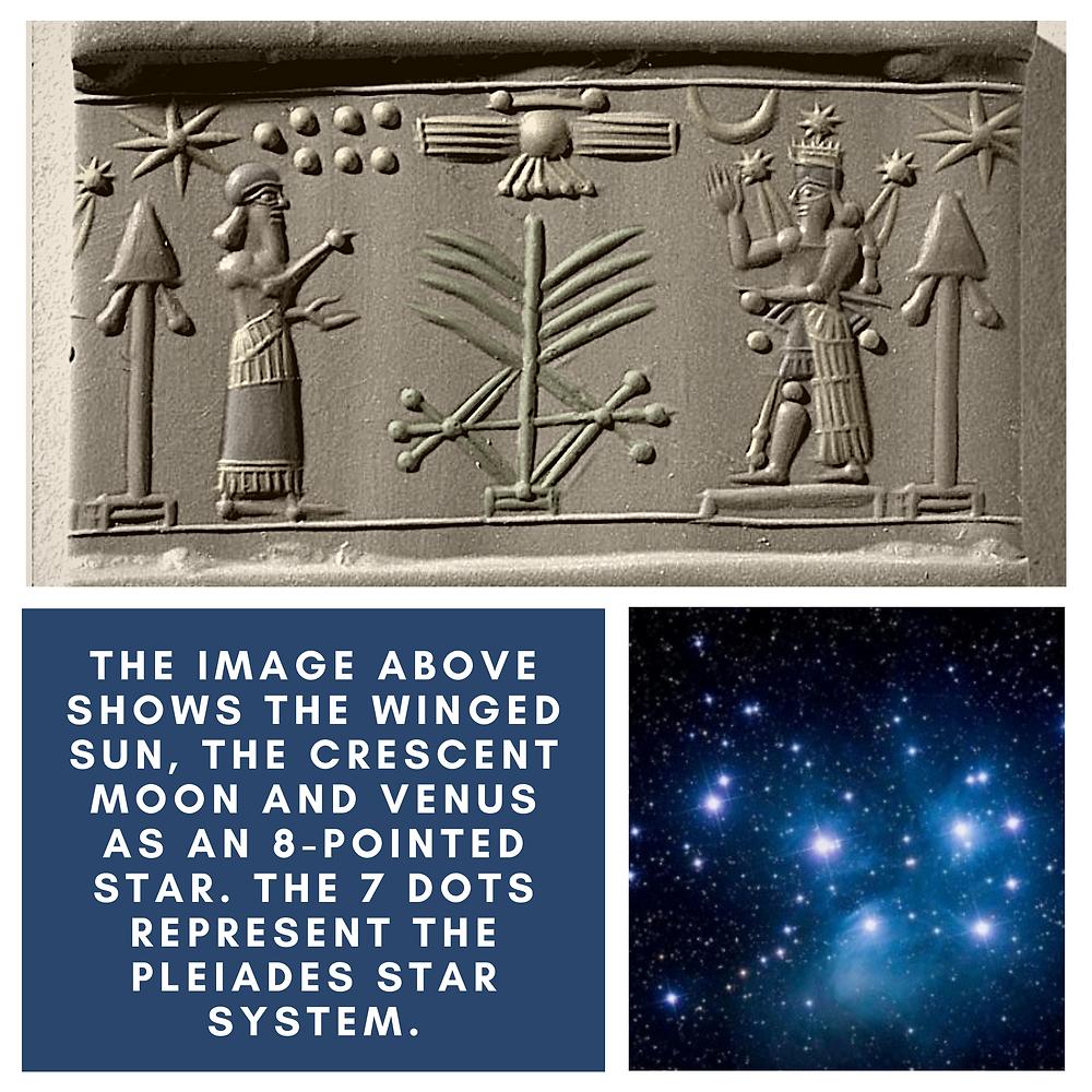 the great world history book stephan dinkgreve mesopotamia sumeria babylon astronomy planets venus moon sun pleiades