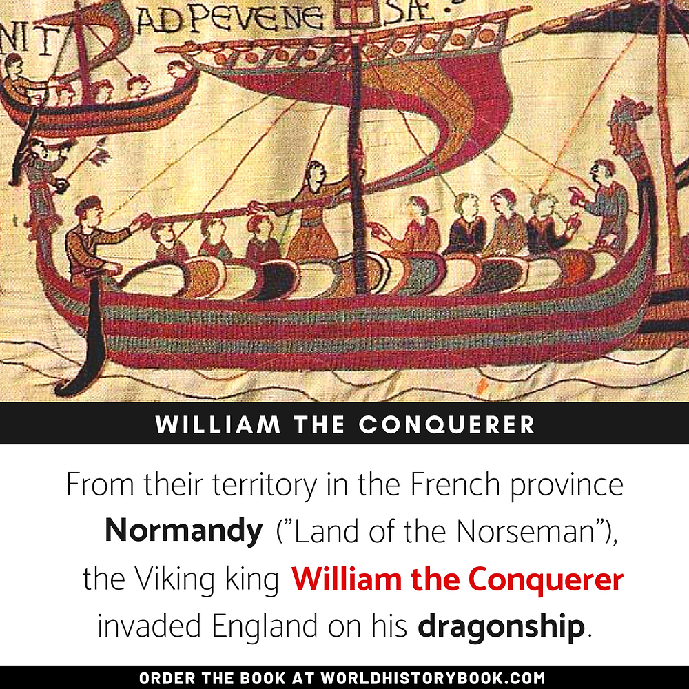 the great world history book stephan dinkgreve viking norse mythology william the conquerer normandy dragon ships bayeux hastings