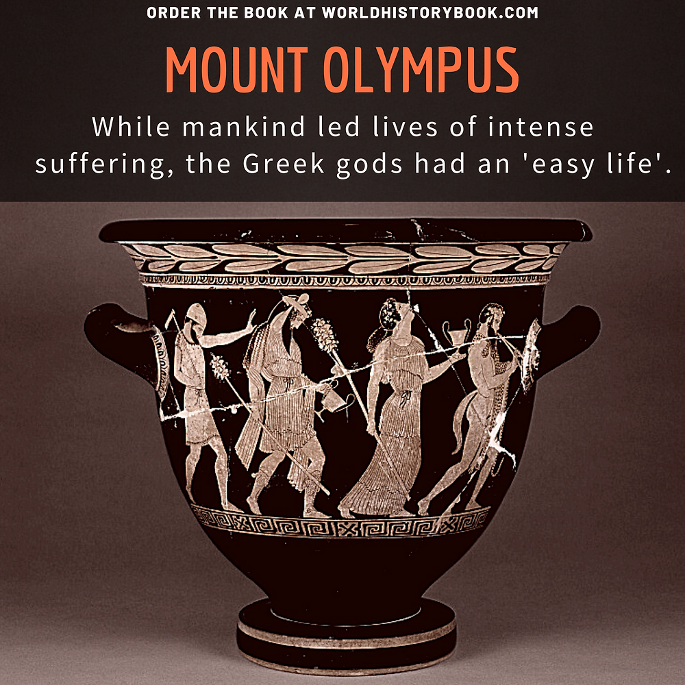 the great world history book stephan dinkgreve ancient greece homer iliad odyssey mount olympus easy life gods