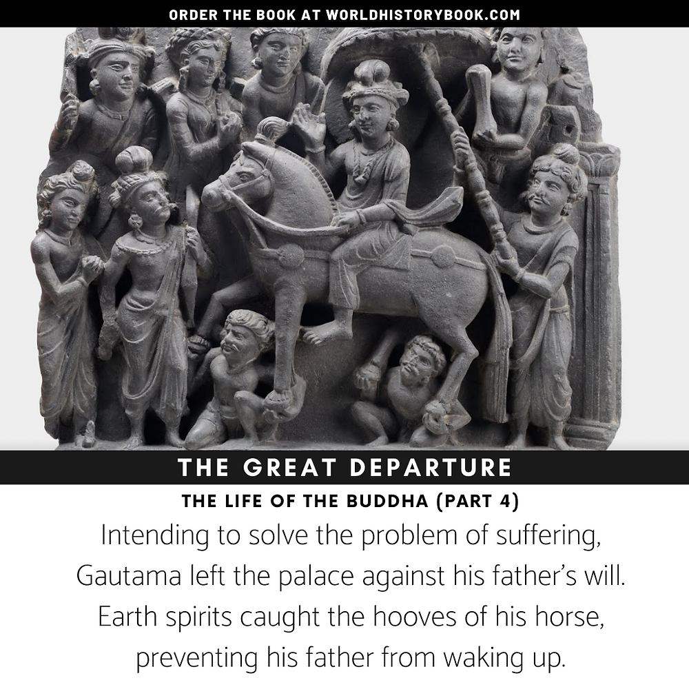 the great world history book buddha departure earth spirits