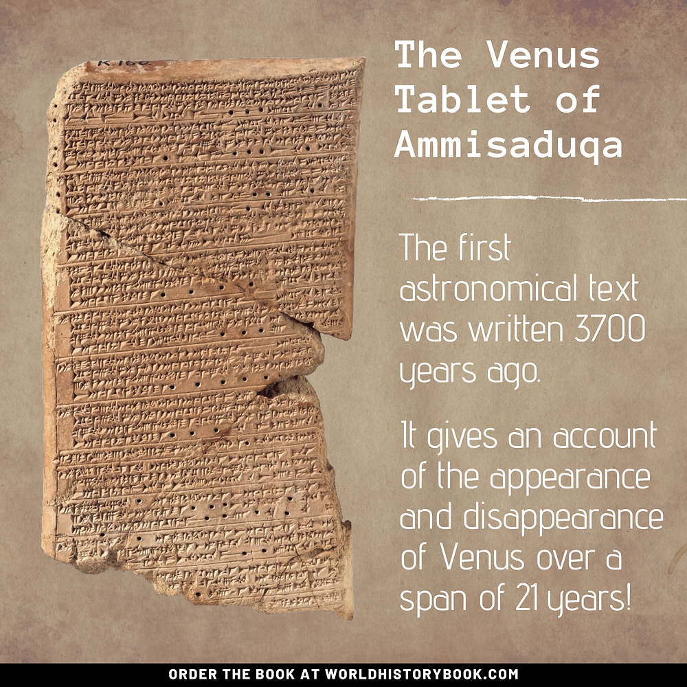 the great world history book stephan dinkgreve mesopotamia sumeria babylon astronomy planets venus tablet