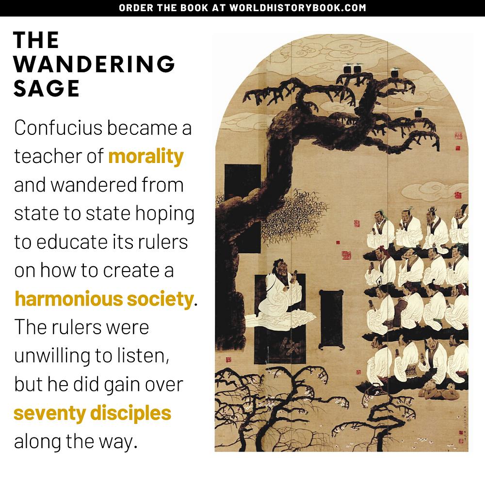 Confucius wandering sage harmonious society government disciples