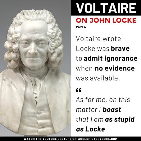 Voltaire on Locke's bravery to admit ignorance