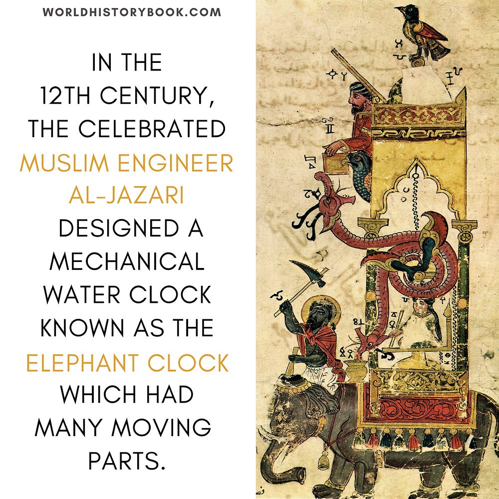 the great world history book stephan dinkgreve abbasid caliphate islamic golden age baghdad al-jazari mechanical engineer elephant clock