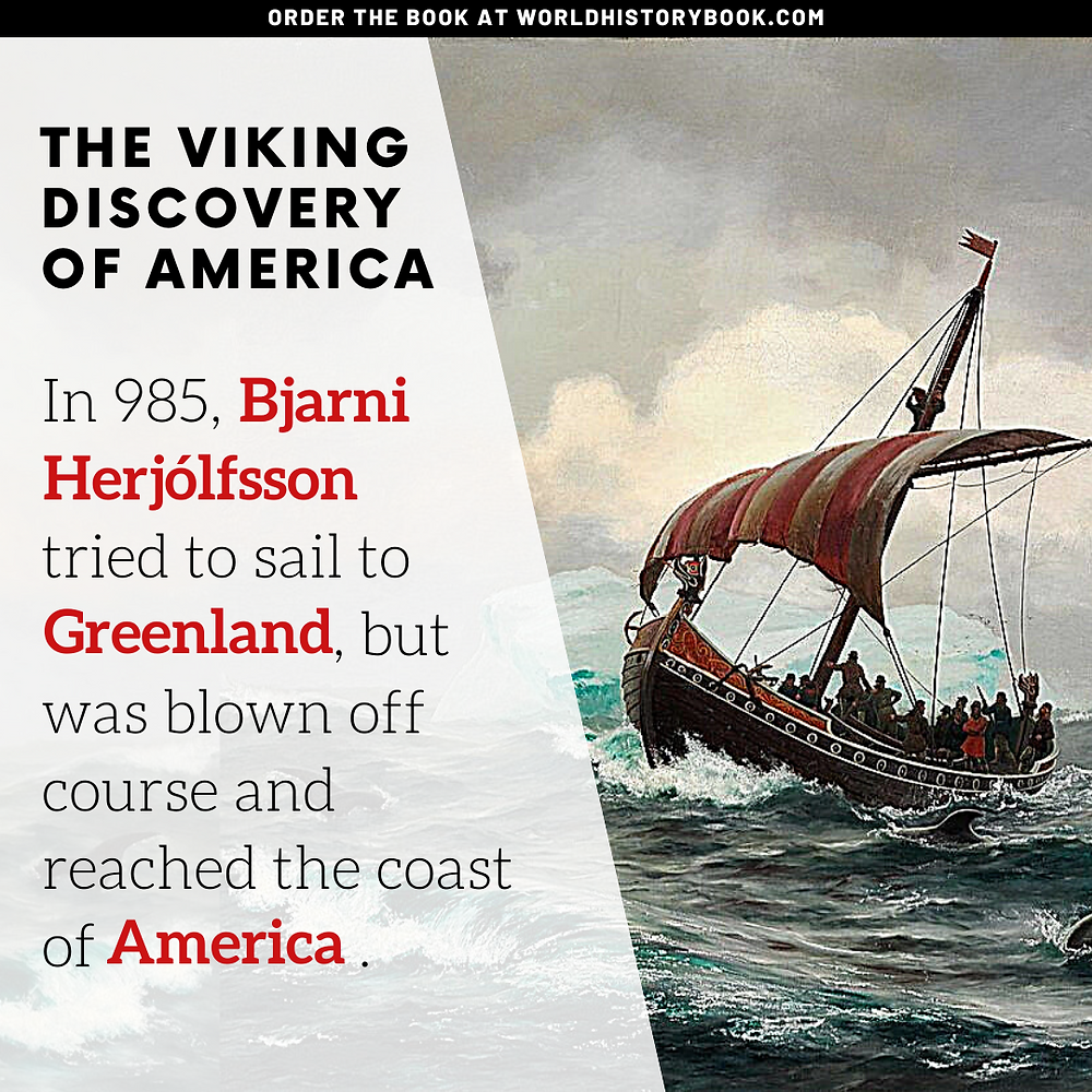the great world history book stephan dinkgreve viking norse mythology eric the red greenland saga vinland bjarni herjolfsson america