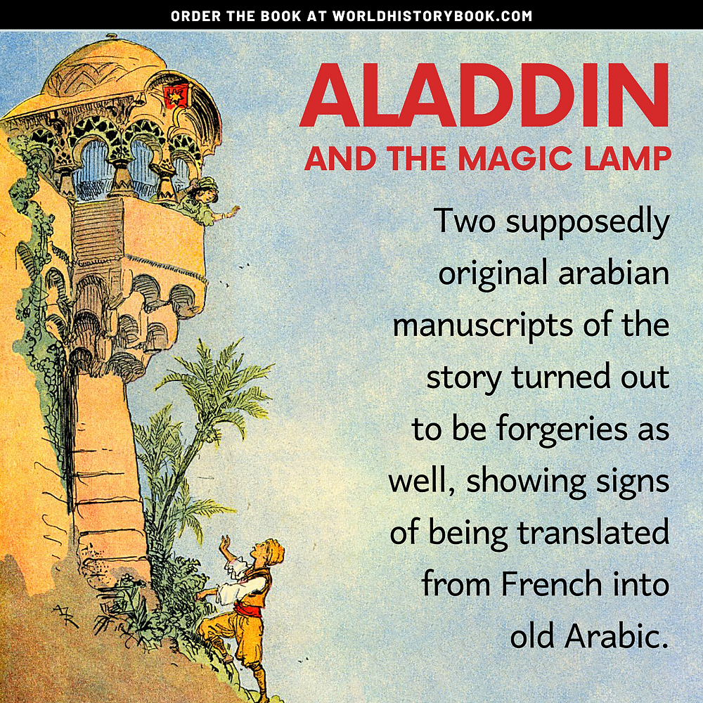 the great world history book stephan dinkgreve arabian nights one thousand and one nights aladdin original forgery