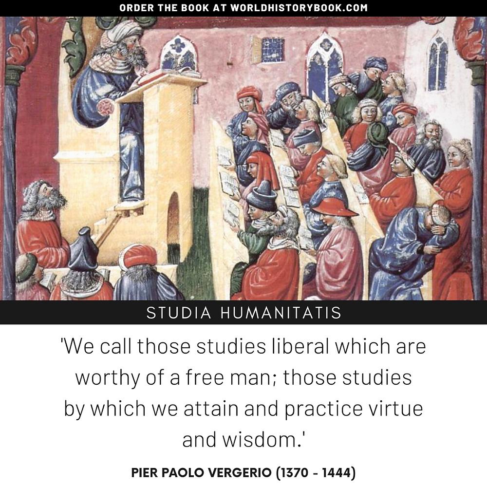 the great world history book stephan dinkgreve renaissance florence humanism studie humanitas cicero liberal arts