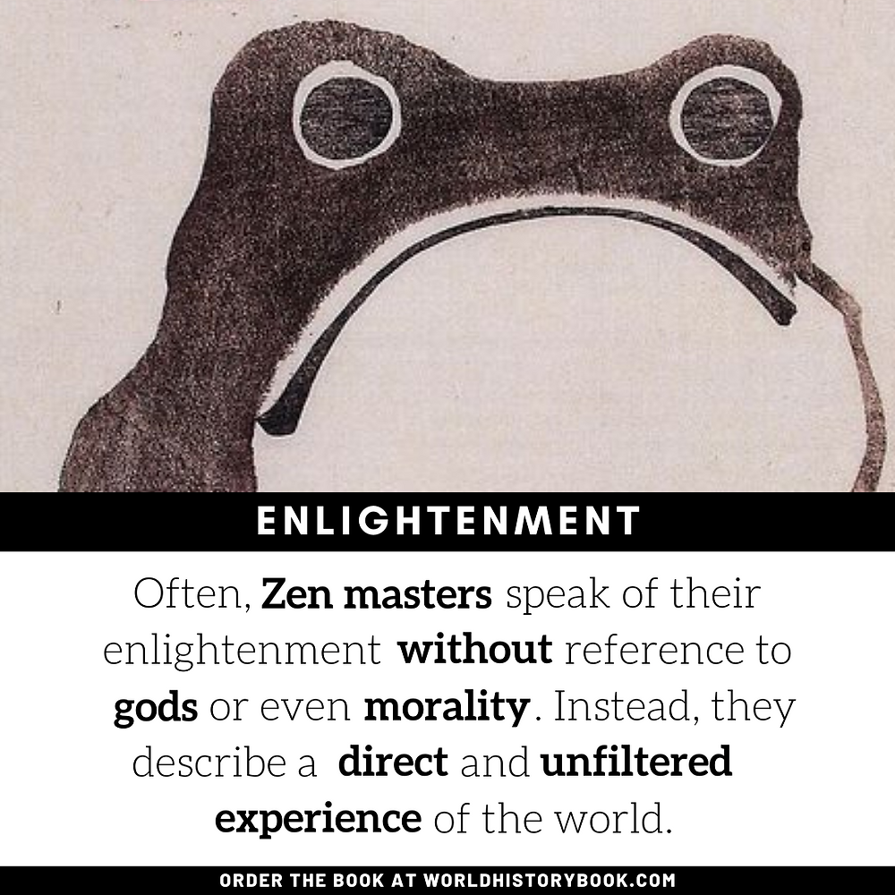 the great world history book stephan dinkgreve japan zen meditation enlightenment frog basho haiku